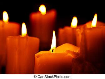 lume di candela, riscaldare