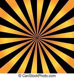luminoso, astratto, sfondo arancia, raggi