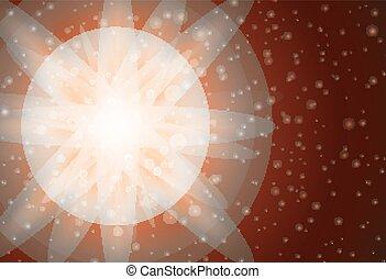 luminoso, disegno, luce, fondo, arancia