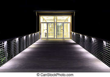 luminoso, entrata, passerella