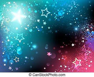 luminoso, fondo, stelle