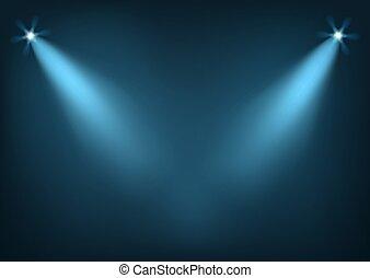 luminoso, illuminato, luci, palcoscenico