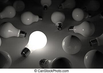luminoso, lampadina