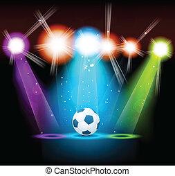 luminoso, palla, fondo