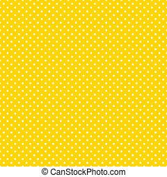 luminoso, polka, seamless, giallo, punti