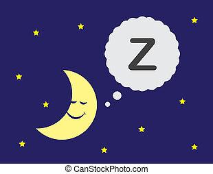 luna addormentata