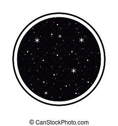 luna, fase, universo