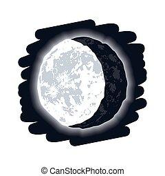 luna, in diminuzione, fase