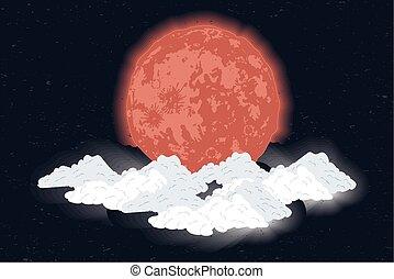 luna, sangue, fase