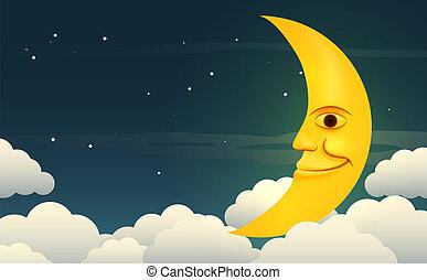 luna sorridente