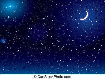 luna, spazio, scape