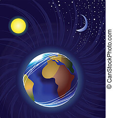 luna, terra, sole