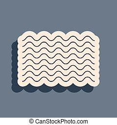 lungo, isolato, vettore, grigio, uggia, nero, onde, icona, fondo., style., illustrazione