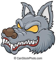 lupo, faccia
