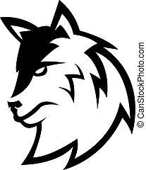 lupo, simbolo, disegno, illustrazione