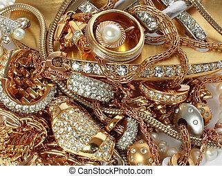 lusso, accessori, dorato