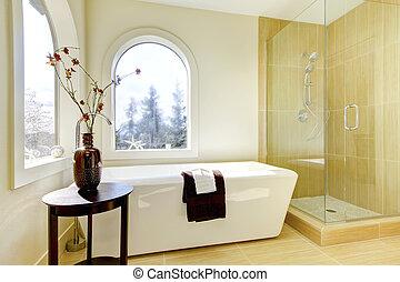lusso, naturale, classico, bathroom., nuovo