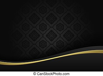 lusso, vettore, fondo, nero