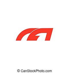 m, geometrico, logotipo, semplice, vettore, automobilistico, lettera, simbolo