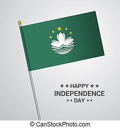 macao, tipografico, bandiera, vettore, disegno, giorno, indipendenza