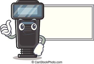 macchina fotografica, asse, lampo, pollici, cartone animato, forma, su