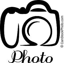 macchina fotografica foto, emblema