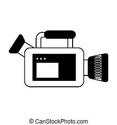 macchina fotografica, video, isolato, icona