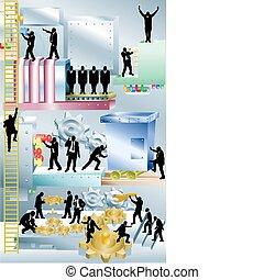 macchina, illustrazione, concetto, affari