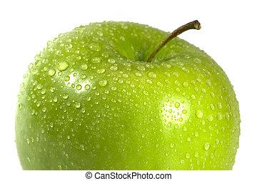 macro, mela, bagnato