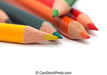 macro, pencils., colorato