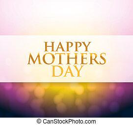 madri, luce, segno, bokeh, giorno, felice