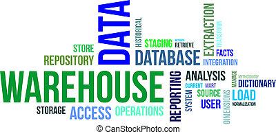 magazzino, parola, -, nuvola, dati