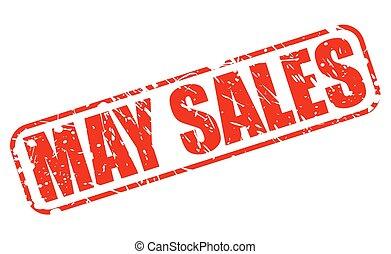 maggio, francobollo, vendite, rosso, testo