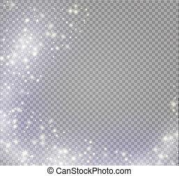 magia, effect., effetto leggero, luce, isolato, vettore, bagliore, stella, scintilla, burst., speciale, splendore