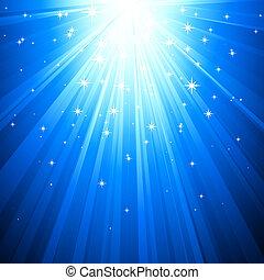 magia, fondo, astratto, luce blu