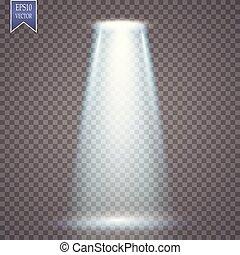magia, proiezione, effetto leggero, vettore, spotlight.