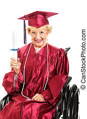 mai, educazione, vecchio