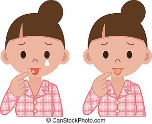malattia, lingua