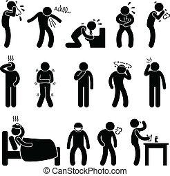 malattia, malattia, sintomo, malattia