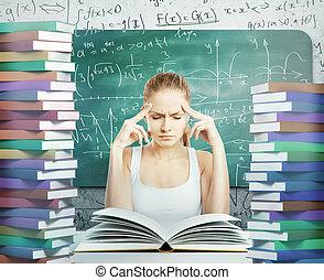 malinconico, donna, libri