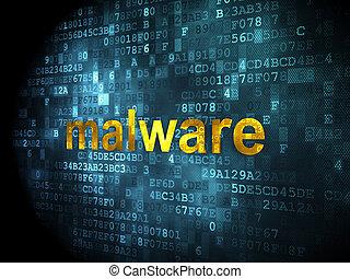 malware, concept:, sicurezza, fondo, digitale