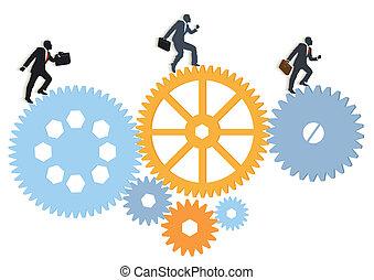 managers, spostare, gruppo