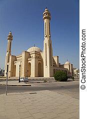 manama, al-fateh, moschea, bahrain, grande