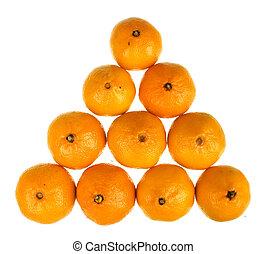 mandarini, fresco, succoso