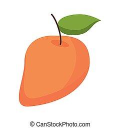 mango, succoso, frutta, icona