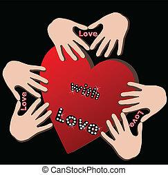 mani, cuore, amore