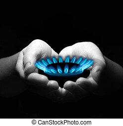 mani, gas