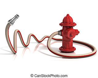 manichetta antincendio, idrante