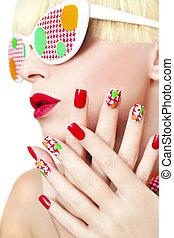 manicure., textured
