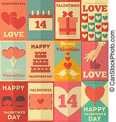 manifesti, valentines, collezione